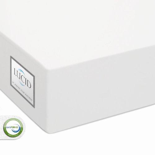 """LUCID® by LinenSpa 10"""" Memory Foam Mattress - 100% CertiPUR Foam - 25-Year Warranty"""