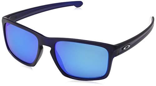 Oakley Men's OO9262 Sliver Rectangular Sunglasses, Matte Transparent Blue/Prizm Sapphire, 57 ()