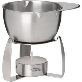 Trudeau Stainless Steel Butter Warmer with Tea Light