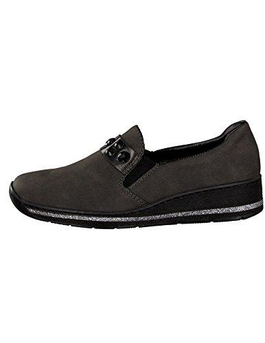à Femme Rieker pour Ville Chaussures Lacets Gris de 589D4 r0xqI70p