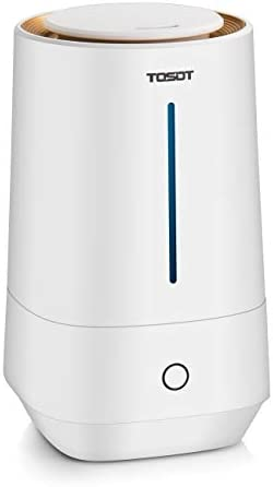 TOSOT Ultrasonic Cool Mist Humidifier, 4L 1.1 Gallon Essential Oil Diffuser, Top-Filling Tank, Micro-Mist Technology, 24-Hour Run Time, Auto Shut-Off, Whisper Quiet – Air Moisturizer for Home, Bedroom