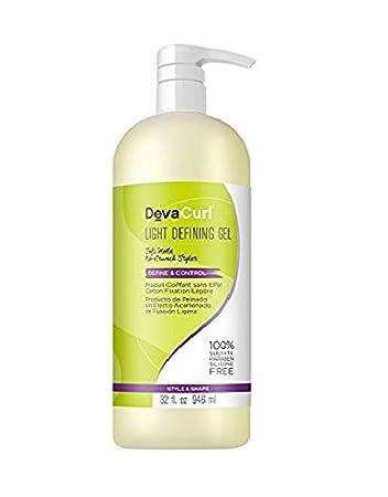 b1660cd73 Amazon.com : DevaCurl Light Defining Styling Hair Gel, 32oz : Standard Hair  Conditioners : Beauty