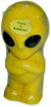 Blacklight Alien Candle 6 In