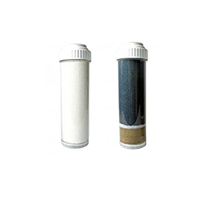 """CuZ Dual Cartridge Replacement Filters Model# FR-1 Fluoride Cartridge & KR-101N Wide Spectrum Cartridge for UC-2K Under Counter & Counter Top Water Filtration Systems (2.5"""" x 10"""" Slimline Cartridges)"""
