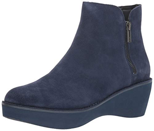Kenneth Cole REACTION Women's Prime Platform Bootie with Side Zip Ankle Boot, Navy, 6 M US