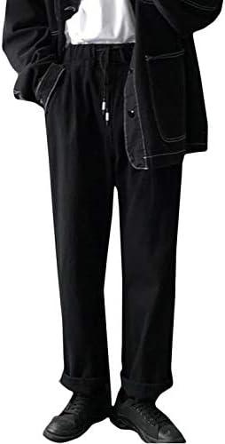 (バイバン)ワイドパンツ メンズ ジーンズ ゆったり デニムパンツ ウエスト ゴム ジーパン ストレート おしゃれ カジュアル パンツ デニム ファッション ズボン 黒
