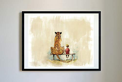 Calvin and Hobbes #15 Watercolor Unique Print Poster Modern Print Decor Water Color (11 x 14)