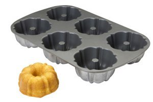 Focus Foodservice 6 Openings Fluted Muffin Pan -- 6 per case.