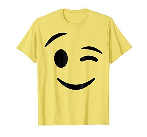 Halloween Emojis Costume Shirt Winking Face Wink Emoticon ()