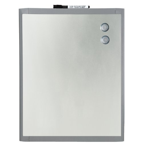 Quartet Stainless Steel Finish Magnetic Dry-Erase Board, 8.5 x 11 Inches, Graphite Gray Frame (mhos8511) - Gray Plastic Graphite Frame