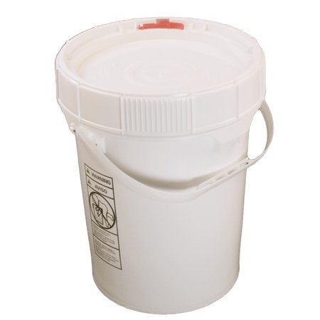 t Resealable Screw Lid, Auto Latch - Food Grade Plastic Pail - Same Day ()