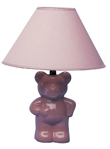- ORE International 611PK Ceramic Teddy Bear Lamp, Pink