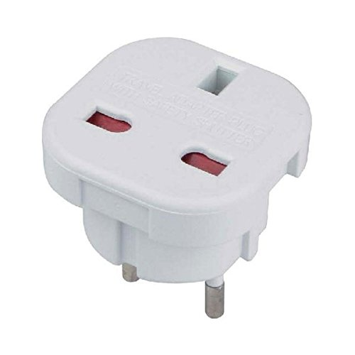 UK to Euro Travel Adaptor inc the extra hole needed to enable them to plug into French socketss with protruding earth pin. SummerLand WA-9C