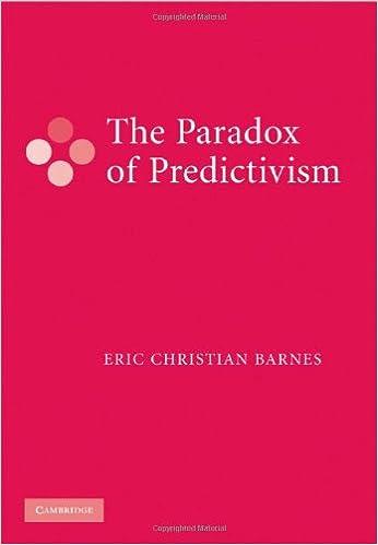 the paradox of predictivism barnes eric christian