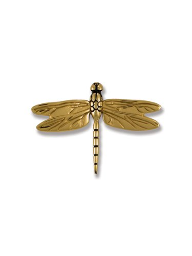 Dragonfly in Flight Door Knocker - Brass (Standard Size)