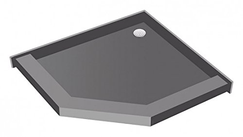 Neo Shower Base - Tile Redi USA P48Neo-PVC Redi Neo Angle Shower Pan with Back Drain, 48