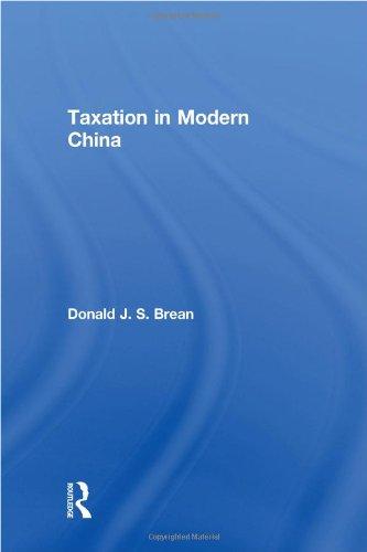 Taxation in Modern China