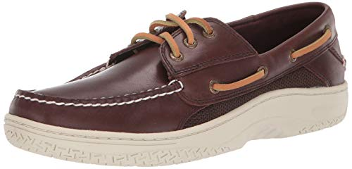 SPERRY Men's Billfish 3-Eye Boat Shoe, Classic Brown, - Loafer Sewn Hand