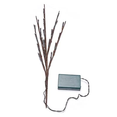 Bulk Buy: Darice DIY Crafts Lighted Branches Brown 20 Warm White LED Lights 17 inches (6-Pack) 1105-104