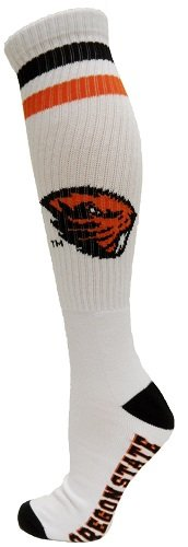 Oregon State Beavers Woven Jacquard - NCAA Oregon State Beavers Tube Socks, One Size, White