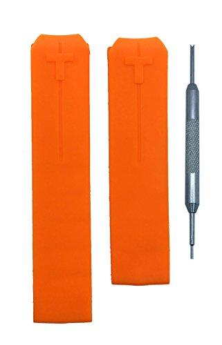 Unisex Orange Silicone Strap LED Watch Set of 2 - 2