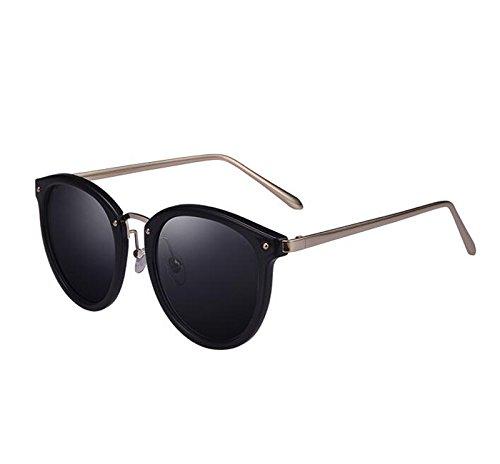 Star Sol Gafas Paragraph Elegante Gray Gradient Round UV Tide Korean Color Gafas Face Gris HLMMM Glasses Mujer de de Sol xEwXqWf