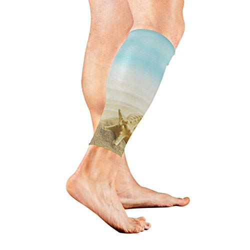 Leg Sleeve Starfish Seashell On Beach Compression Socks for sale  Delivered anywhere in USA
