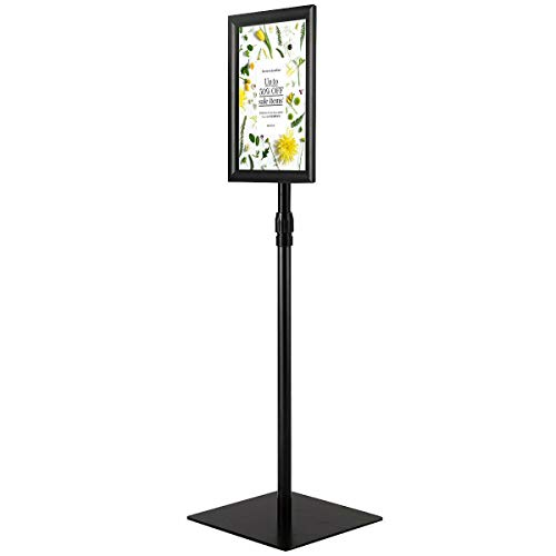 8.5 x 11 inches Adjustable Sign Holder Aluminum Pedestal Poster Stand Indoor Outdoor Boutiques Hotel Lobbies Restaurant Public Event Display, Black with Ebook from NanaPluz