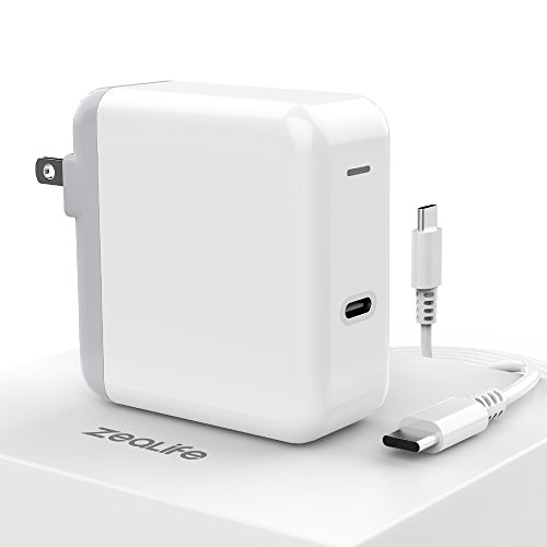 ZeaLife 30W USB C Power Adapter, Premium Power Delivery Fast Charging USBC Brick Compatible with Thunderbolt 3 Charger Port MacBook Retina 12-inch 2015, 2016, 2017, 2018 [ UL Listed ]