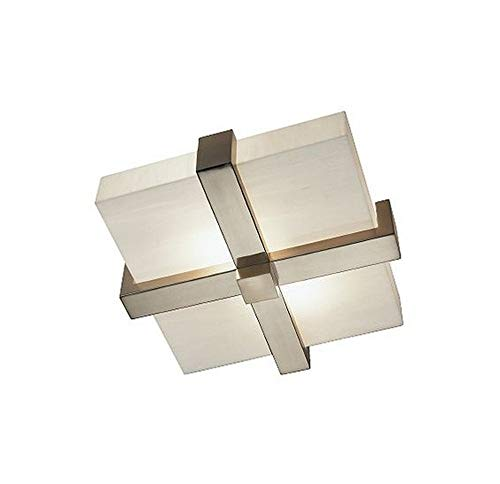 - Robert Abbey S139 Flush Mounts with Marbleized Glass Shades, Antique Silver Finish