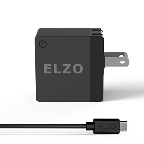 Elzo Quick Charge 3.0 18W USB Wall Charger Adapter Fast Portable Charger With A 3.3ft Rapid Quick Charge Micro USB Cable For Samsung Galaxy/Note, LG Flex2/V10/G4, Nexus 6, Motorola Droid/X, Black by ELZO