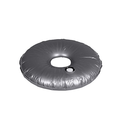 Vispronet - 19.5in. Portable Round Outdoor Umbrella Feather Flag Base Weight Bag - Fill with Water or Sand (2 pcs.) by Vispronet