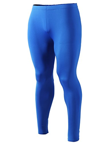Men Active Skin Tights - Blue