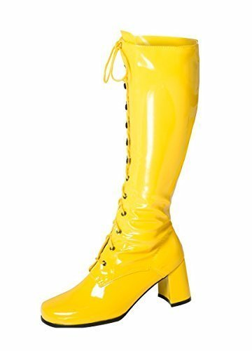73faec4d79d Yellow Knee High Boots - Eyelet Lace up Boots - Size 8 UK  Amazon.co.uk   Shoes   Bags