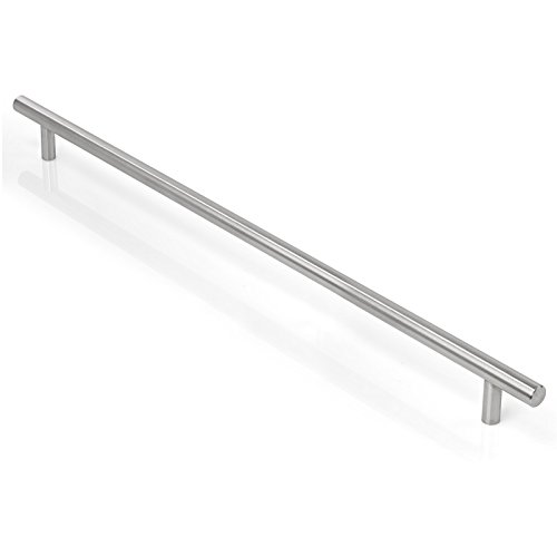 Cauldham Solid Stainless Steel Euro Style Cabinet Pull Handle Brushed Nickel Design 15-5/8