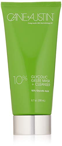 Cane Powers Austin - CANE + AUSTIN 10% Glycolic Acid Gelée Mask + Cleanser, 2-in-1 Facial Product for Pore Cleansing & Exfoliation, 6.7 fl. oz.