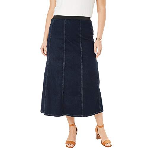 Jessica London Women's Plus Size Jegging Skirt - Indigo Wash, 22