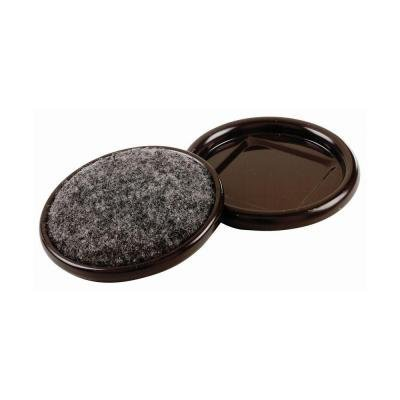 2-1/2 in. Round Carpet Base Metal Furniture Cups (4-Pack) ()
