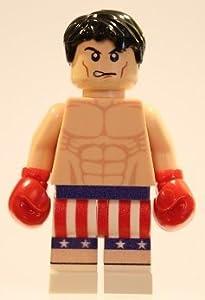 Amazon.com: Lego Custom Printed Rocky Balboa Minifig