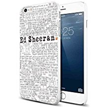 Ed Sheeran Lyrics Quote for Iphone and Samsung Galaxy Case ( iPhone 6/6s white) (Singer Iphone 5s Case)