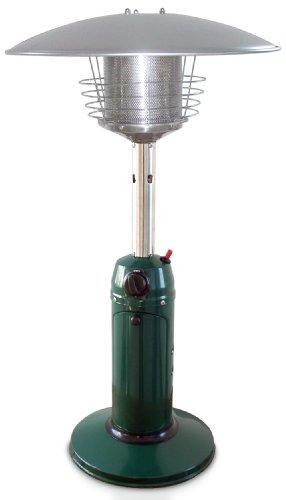 Green Patio Heater (Garden Sun GS3000GN Table Top 11,000 BTU Propane Powered Patio Heater With Push Button Ignition, Green)