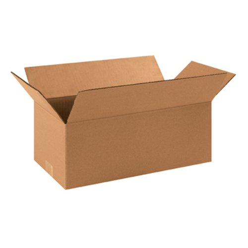 "Aviditi 1686 Long Corrugated Box, 16"" Length x 8"" Width x 6"""