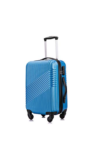 Flymax Cabin Luggage 4 Wheel Suitcase Lightweight Carry on 55x35x20 Approved for Flybe Ryanair Easyjet British Airways…