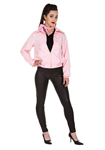 Plus Size Deluxe Pink Ladies Jacket 3X - Pink Lady Costume Plus Size