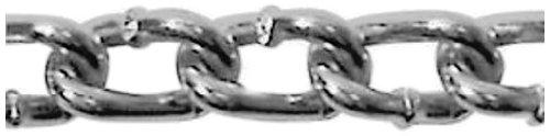 (ASC MC1504031 Low Carbon Steel Twist Link Machine Chain, Zinc Plated, 4 Trade, 7/64