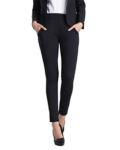 51ecf80668 Balleay Art Women's Stretch Slim Ankle Fit Comfort Office Yoga Dress Pants  w/Out Pocket