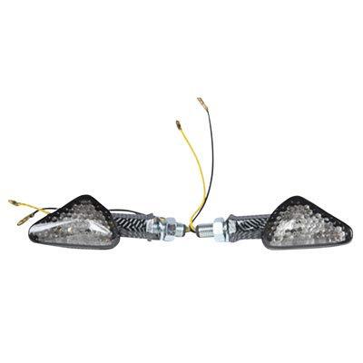 - DMP LED Turn Signal - Offset Arrow 8 LED Carbon Frame/Smoke Lens