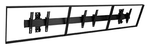 Chief LWM3X1U Fusion Large Wall 3X1 Menu Board - Mounting kit ( mounting rail, 6 interface brackets, 2 wall uprights ) for 3 LCD / plasma panels - black - screen size: 40 inch -55 inch