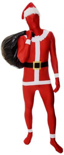 [Morphsuits Premium Santa  XL, Red / White / Black, X-Large] (White Morphsuit)
