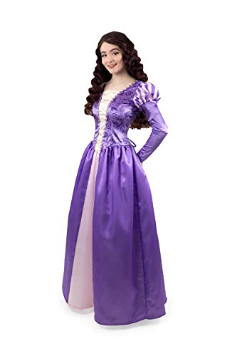 Little Adventures Enchanted Rapunzel Dress-Up Costume for Adult Women (Medium (6-8)) Purple]()